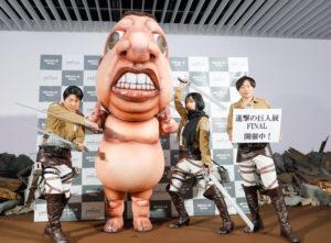 宇垣美里、「進撃の巨人」のヒロイン・ミカサのコスプレ姿を披露(2019年7月5日、「進撃の巨人展FINAL」オープニングイベントにて)