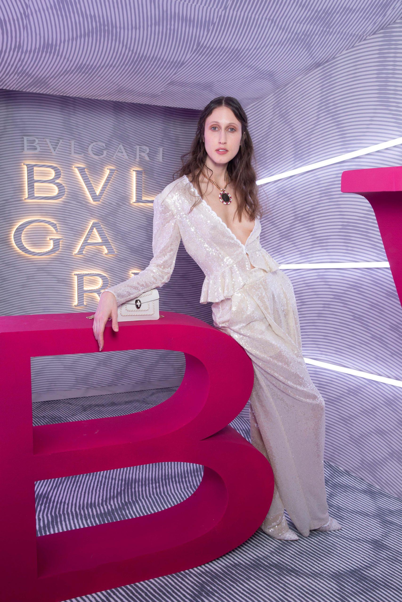 ミラノファッションウィークにてブルガリ2020年秋冬アクセサリーコレクションを祝したパーティにて(2020年2月21日)