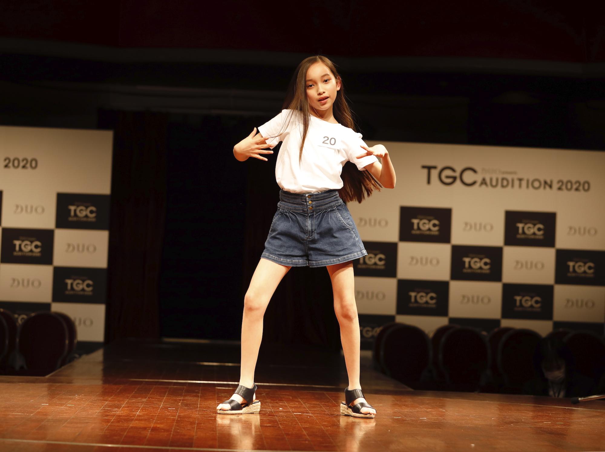 上妻美咲/2020年2月9日(日)、東京・品川プリンスホテル クラブeXにて開催された『DUO presents TGC AUDITION 2020』の公開ドラフト会議にて。