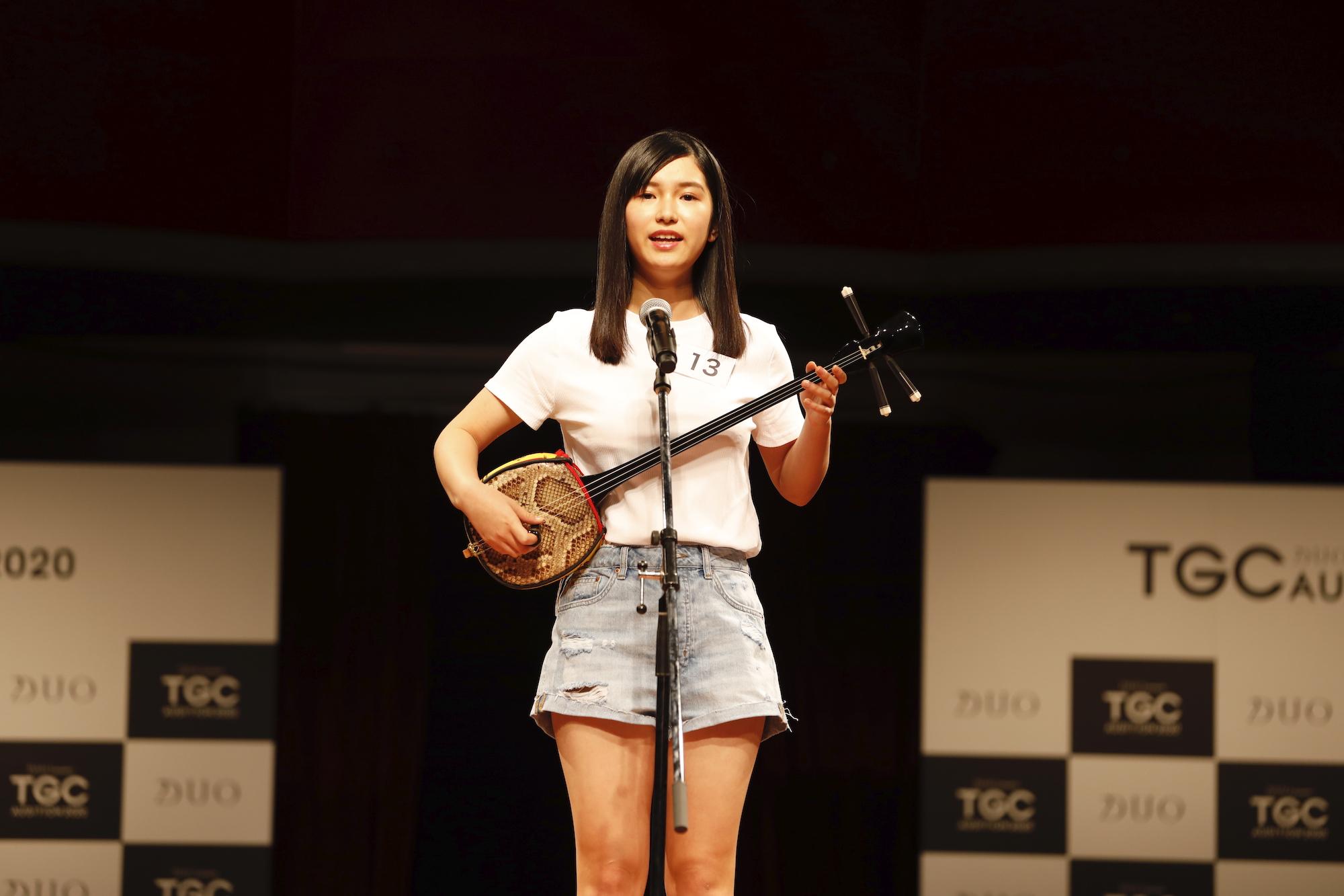 朝倉百/2020年2月9日(日)、東京・品川プリンスホテル クラブeXにて開催された『DUO presents TGC AUDITION 2020』の公開ドラフト会議にて