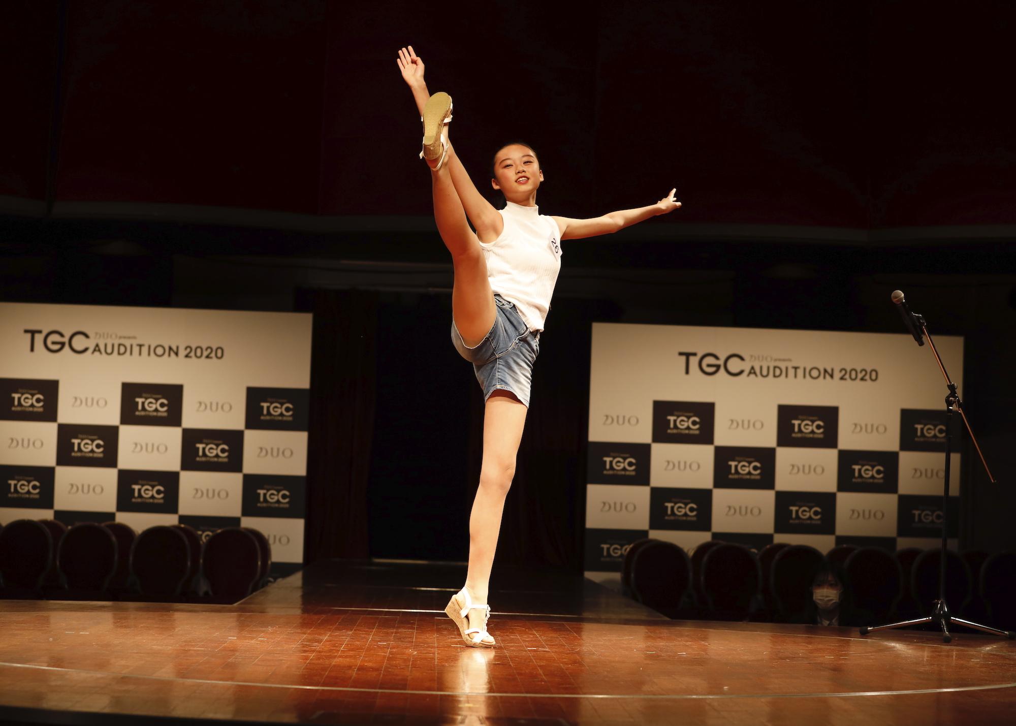 加蘭桃子/2020年2月9日(日)、東京・品川プリンスホテル クラブeXにて開催された『DUO presents TGC AUDITION 2020』の公開ドラフト会議にて。