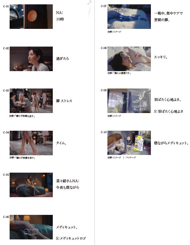 寝ながらメディキュット ロング CM(出演モデル:菜々緒 )