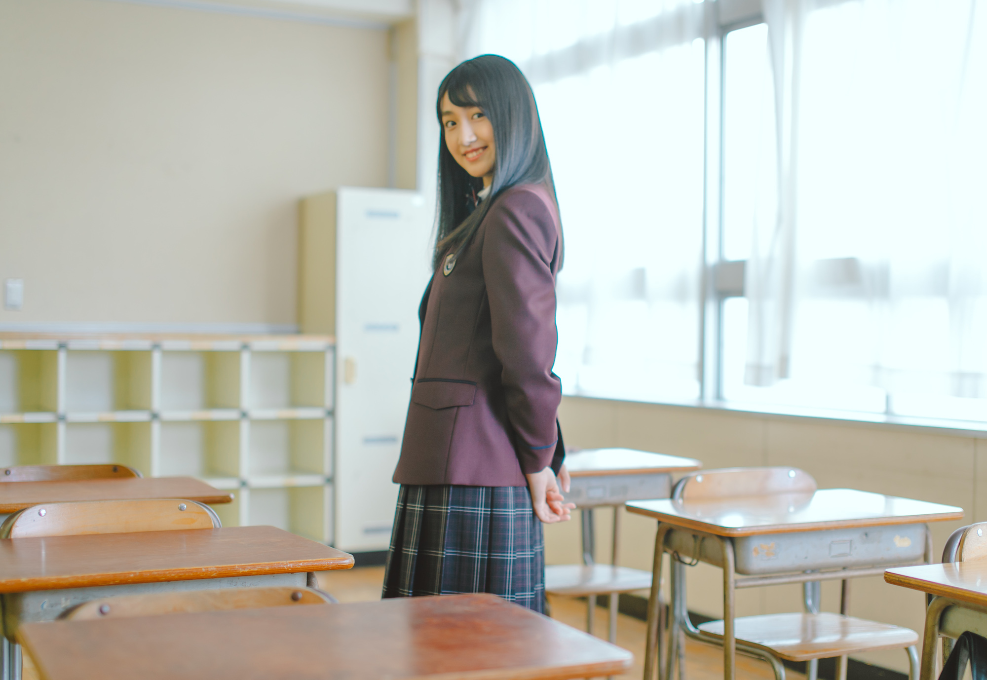 小見山沙空(NGT48)岡山県立倉敷鷲羽高等学校が新制服イメージモデル