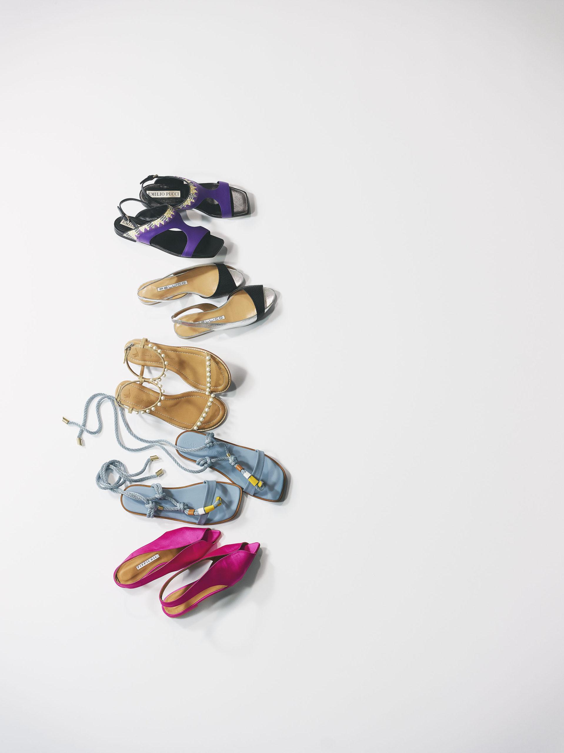 ヒールなしの靴
