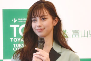 中条あやみ/2020年3月16日、富山県富山市にて開催の『プレステージ・インターナショナル presents TGC TOYAMA 2020 by TOKYO GIRLS COLLECTION(TGC 富山 2020)』の開催記者発表会にて。