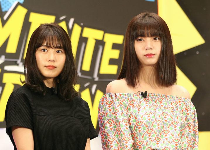 有村架純、池田エライザ/「UNLIMITED WORLD au 5G 発表会」(2020年3月23日)にて。