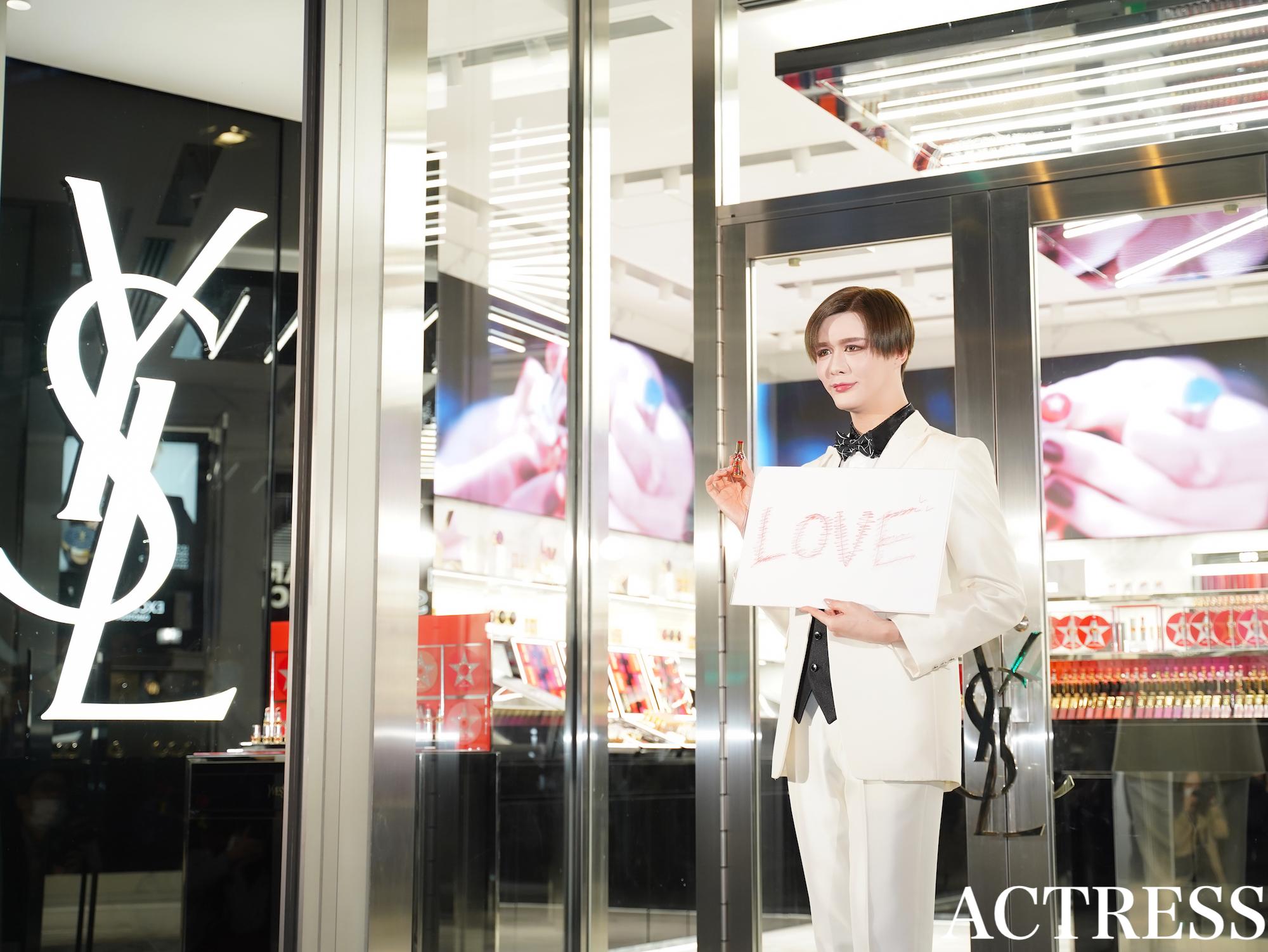 Matt/イヴ・サンローラン・ボーテ 表参道 フラッグシップ ブティック のオープンを記念したテープカットセレモニーにて(2020年3月26日)撮影:ACTRESS編集部