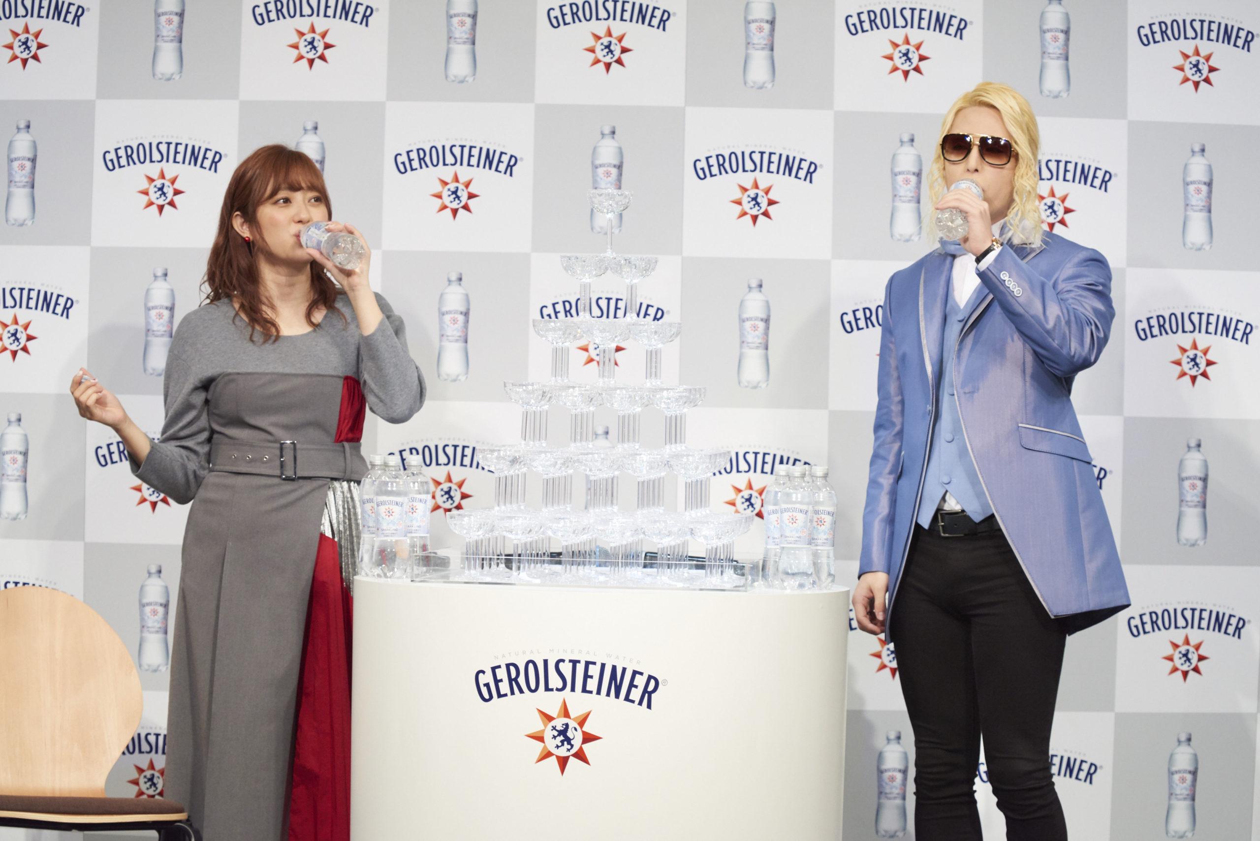 ローランド、菊地亜美/2020年3月5日恵比寿ガーデンルームにて開催された「ゲロルシュタイナー リニューアル発売記念・新 CM 発表会」