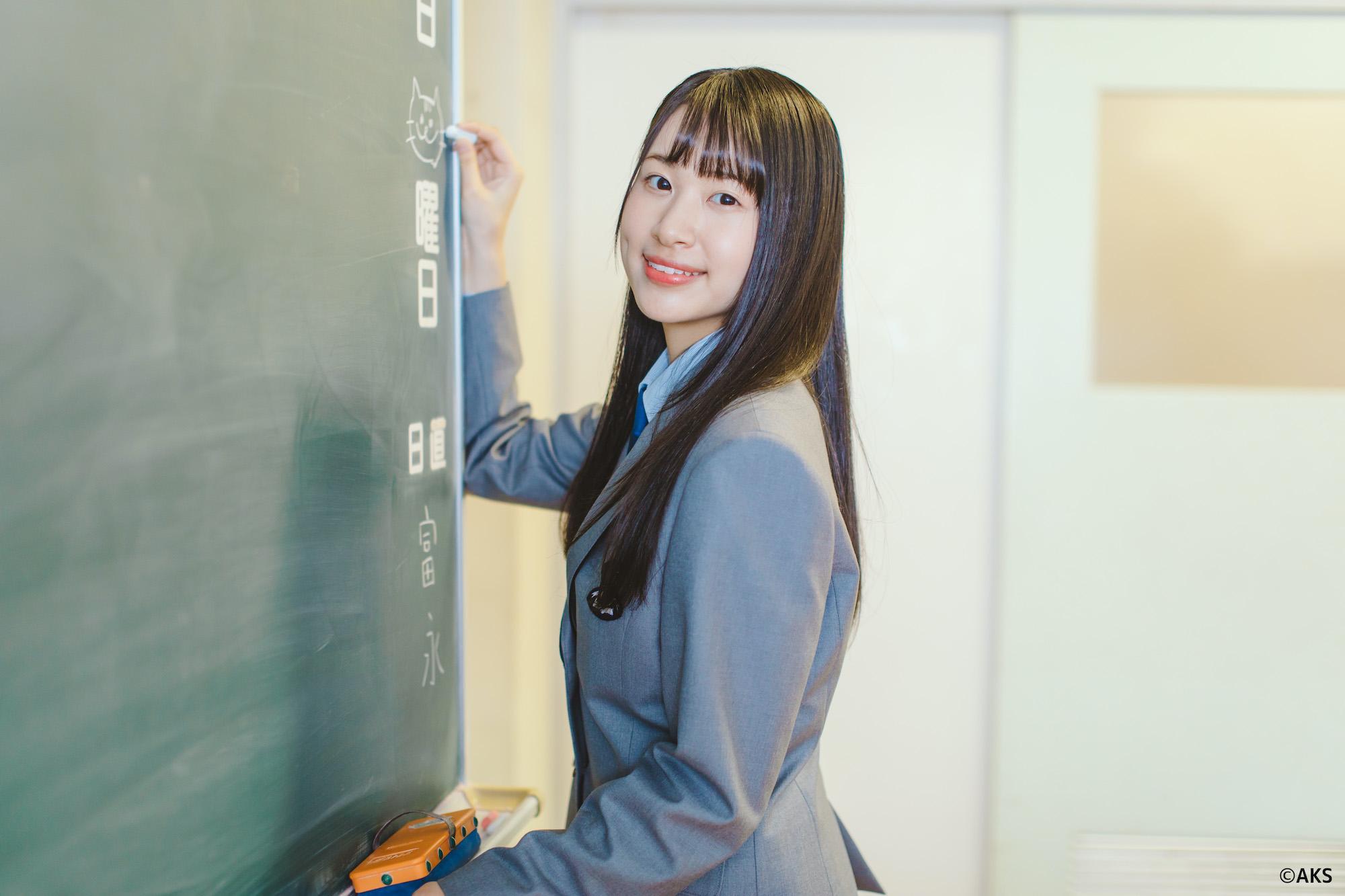 富永夢有(NGT48)/愛媛県 学校法人新田学園 新田高等学校が新制服