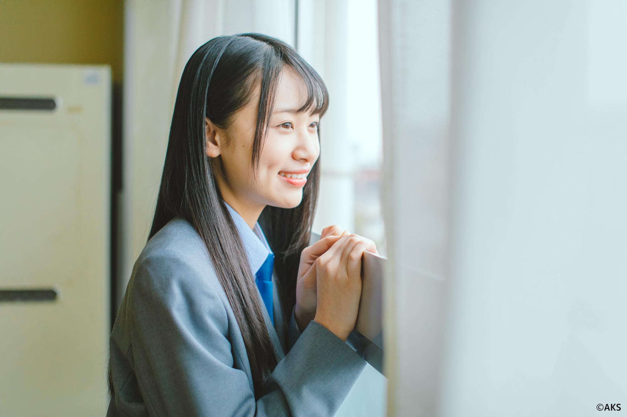 富永夢有(NGT48)/愛媛県 学校法人新田学園 新田高等学校 新制服