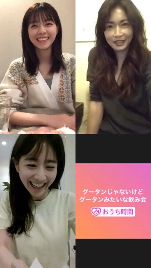 長谷川京子・田中みな実・西野七瀬がオンライングータン実施