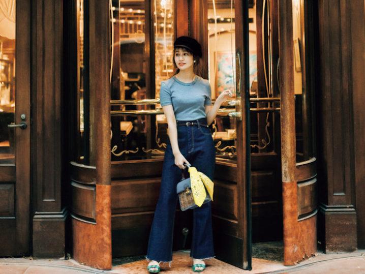 桜井玲香(元乃木坂46)、Sサイズ的「Tシャツ×デニム」披露