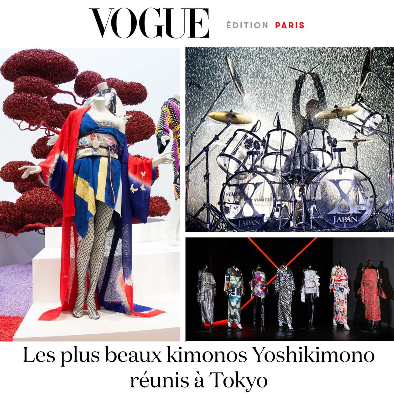 『YOSHIKIMONO』VOUGEフランス版とイタリア版に登場!