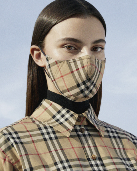 【Burberry(バーバリー) 】ヴィンテージチェックのマスク