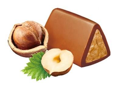 甘く濃厚な味わいのミルクチョコレートコーティング