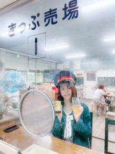 青木菜奈(あおき・なな)/群馬県土合駅の「駅茶 mogura」にて(2020年9月)/撮影 (C)ACTRESS TV