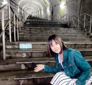 青木菜奈(あおき・なな)/群馬県の土合駅(どあいえき)にて(2020年9月)/撮影 (C)ACTRESS TV