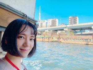 青木菜奈/屋形船にて(2020年11月)/撮影:(C) ACTRESS編集部