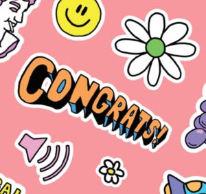 「Congrats」-おめでとう