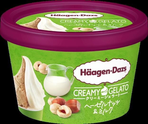 ハーゲンダッツ ミニカップ CREAMY GELATO ヘーゼルナッツ&ミルク
